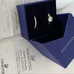 Swarovski Wedding Ring Set - Size 58 International